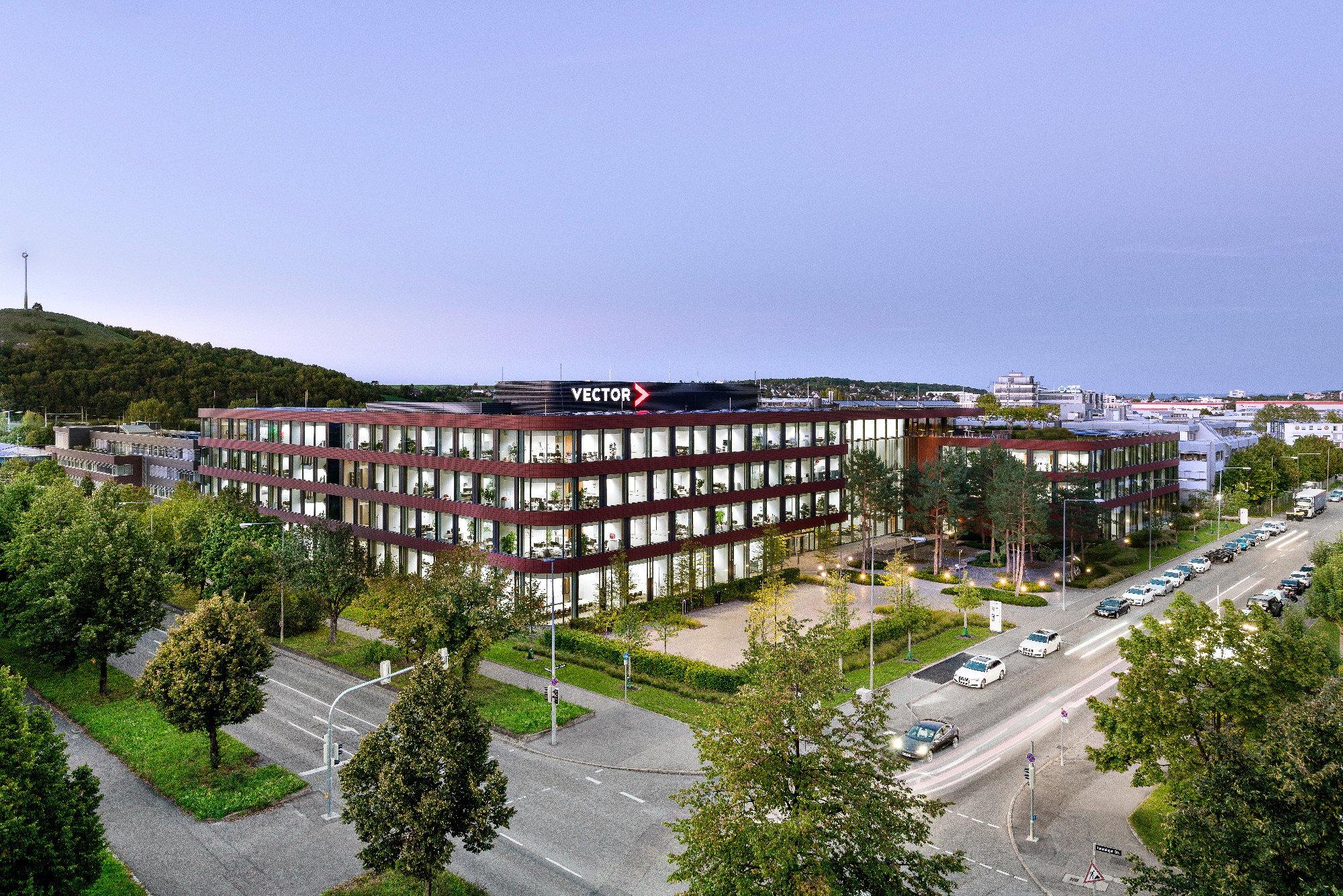 Firmenzentrale Vector Informatik in Stuttgart   Flachdach   Büro ...