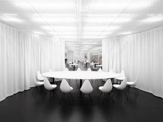 Andreas Schüring Architekten haben die 700 Quadratmeter große Bibliothek gestaltet.
