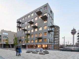 Das Wohn- und Geschäftshaus Stadtelefant in Wien steht im Sonnwendviertel, einem neuen Quartier in der Nähe des Hauptbahnhofes.
