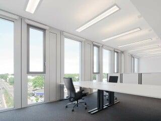 Um alle Dienste an einen Ort zu bündeln, hat der städtische Versorger 2020 in direkter Nähe zur Zentrale ein neues Bürogebäude für 140 Beschäftigte errichtet.