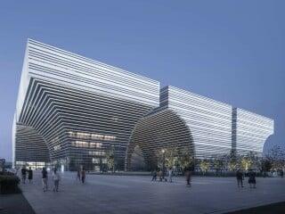 Als Ensemble aus sechs Bauten ist das Kulturzentrum der ostchiniesischen Stadt Changzhou errichtet worden.