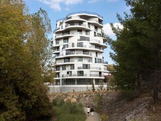 Von Farshid Moussavi Architecture stammt der Entwurf zum Wohnturm Folie Divine in Montpellier.