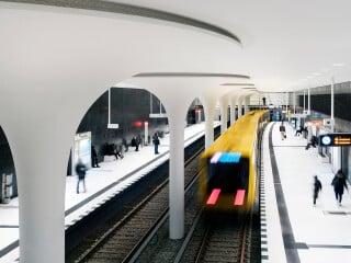 Nun kann man am Roten Rathaus in Berlin-Mitte in die U-Bahnlinie 5 einsteigen und direkt zur Museumsinsel, zum Bundestag und zum Hauptbahnhof fahren.