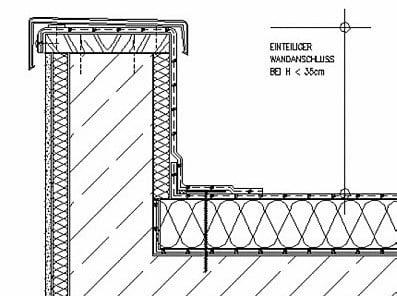 Holzrahmenbau details flachdach  Attika | Flachdach | Glossar | Baunetz_Wissen