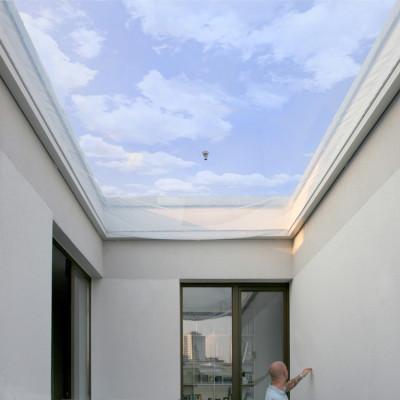 pneumatische berdachung einer terrasse in berlin. Black Bedroom Furniture Sets. Home Design Ideas