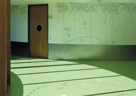 bettenhaus einer kinderklinik in darmstadt boden. Black Bedroom Furniture Sets. Home Design Ideas