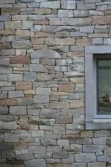 Bruchsteinmauerwerk, knirsch mit scheinbar offener Lagerfuge