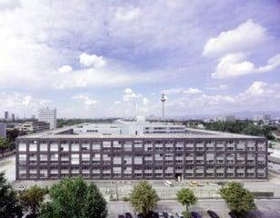 Das neue Polizeipräsidium Frankfurt aus der Vogelperspektive