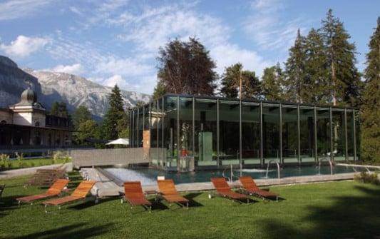 Parkhotel waldhaus in flims sicherheitstechnik hotel for Architekt gastronomie
