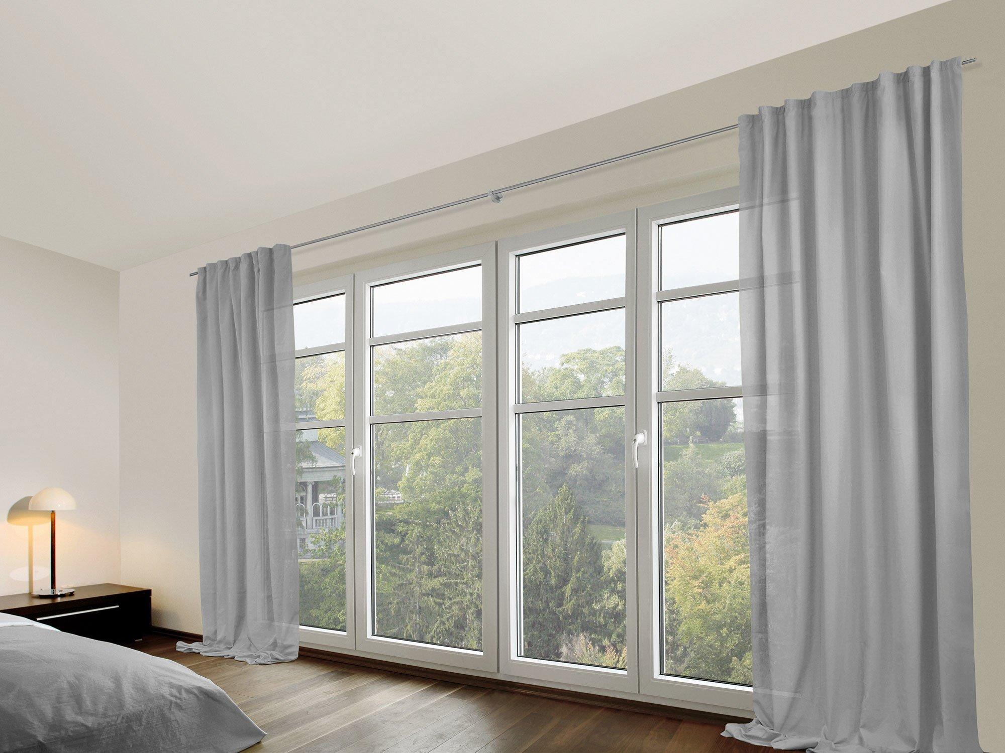 vorhang zum hochziehen simple voile raffrollo mit tunnelzug gardinen erpack vorhang hb cm. Black Bedroom Furniture Sets. Home Design Ideas
