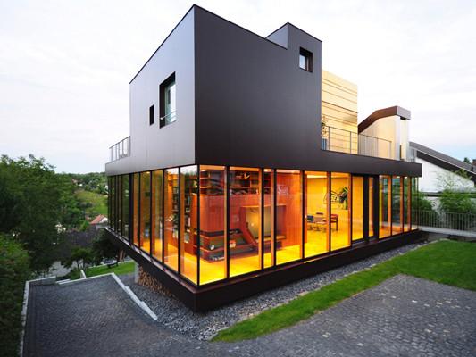 einfamilienhaus ak3 in sinzig glas wohnen baunetz wissen. Black Bedroom Furniture Sets. Home Design Ideas