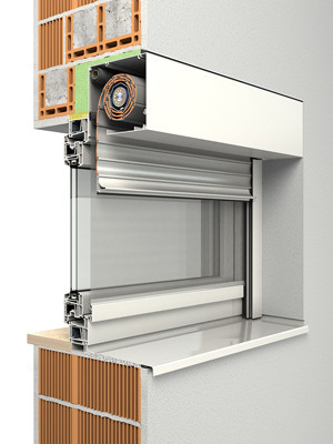 Blendkappensystem sonnenschutz glossar baunetz wissen - Fenster mit integriertem rollladen ...