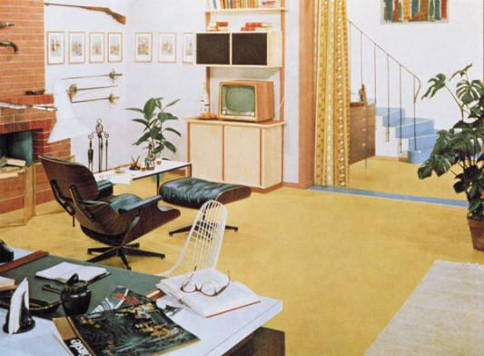 Die geschichtliche entwicklung des linoleums im 20 for Wohnzimmer 1960