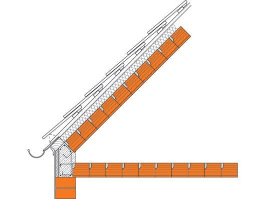 Traufdetail kein dachüberstand  Ziegel-Massivdach: Anschlüsse | Mauerwerk | Dach | Baunetz_Wissen