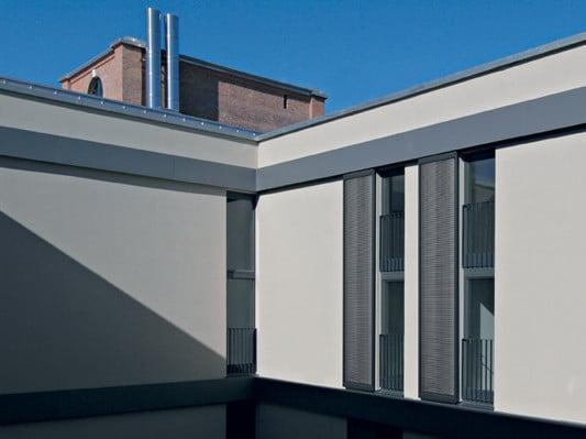 schiebeladen beispiel aus aluminium mit edelstahl lamellen fa 1 4 llung architektur gmbh
