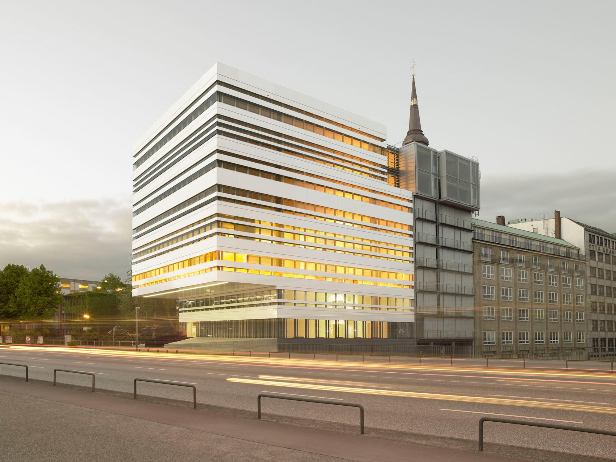 Bürogebäude Wb 57 In Hamburg Fassade Büroverwaltung
